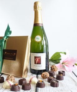 champagne and chocolates