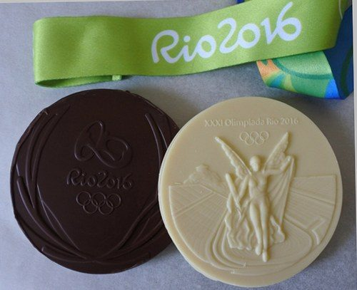 rio chocolate medals