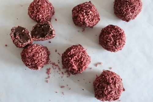 Vegan Coconut and Raspberry chocolate