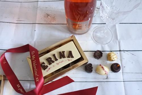 chocolate name card