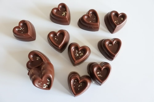 vegan vanilla chocolate hearts