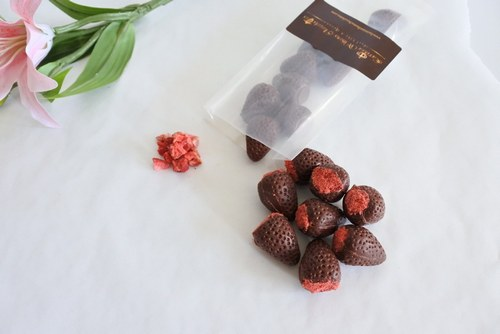 vegan strawberry chocolates