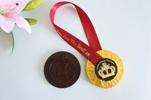vegan you are the best chocolate medal