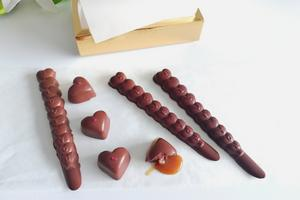 Vegan Caramels and Chocolate Love Sticks